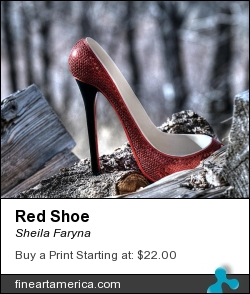 Red Shoe by Sheila Faryna - Photograph