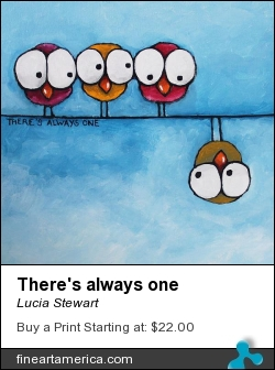 There's Always One by Lucia Stewart - Painting - Acrylic
