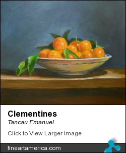 Clementines by Tancau Emanuel - Painting - Oil Painting