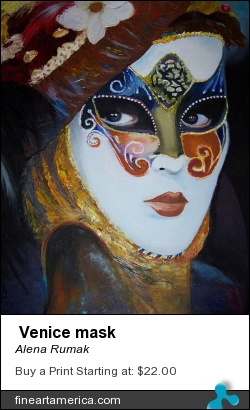 Venice Mask by ALENA RUMAK - Painting - Oil On Canvas