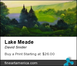 Lake Meade by David Snider - Painting - Oil On Canvas
