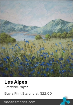 Les Alpes by Frederic Payet - Painting - Acrylic Palette Knife