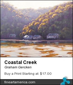Coastal Creek by Graham Gercken - Painting - Oil On Canvas