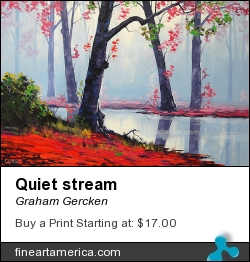 Quiet Stream by Graham Gercken - Painting - Oil On Canvas