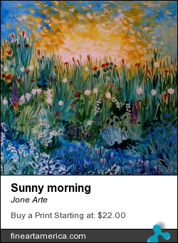 Sunny Morning by Jone Arte - Painting - Oil On Canvas