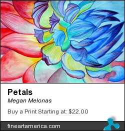 Petals by Megan Melonas - Painting - Watercolor On Paper