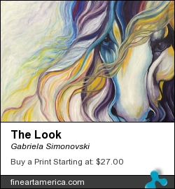 The Look by Gabriela Simonovski - Painting - Acrylic On Canvas