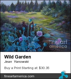 Wild Garden by Jean  Yanowski - Painting - Oil On Canvas