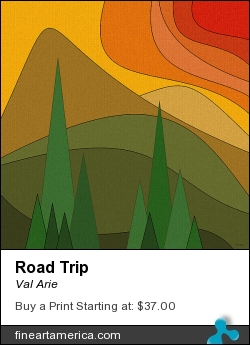 Road Trip by Val Arie - Digital Art - Digital Paint / Painting / Val Arie Original Art