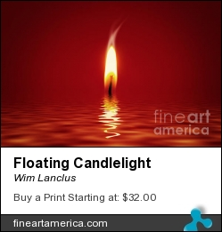 Floating Candlelight by Wim Lanclus - Photograph - Photograph