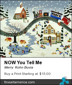Now You Tell Me by Merry  Kohn Buvia - Painting - Acrylic On Canvas