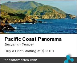 Pacific Coast Panorama by Benjamin Yeager - Photograph - Color Photo