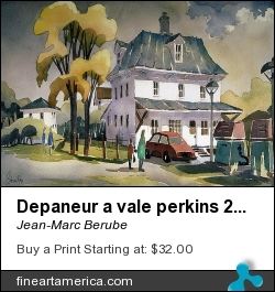 Depaneur A Vale Perkins 22x30 by Jean-Marc Berube - Painting - Water-colour