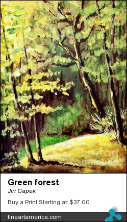 Green Forest by Jiri Capek - Painting - Acrylic Painting