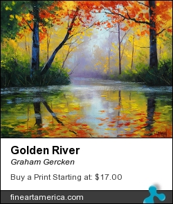 Golden River by Graham Gercken - Painting - Oil On Canvas