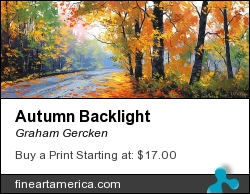 Autumn Backlight by Graham Gercken - Painting - Oil On Canvas