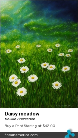 Daisy Meadow by Veikko Suikkanen - Painting - Oil On Canvas