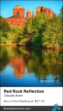 Red Rock Reflection by Claudia Kuhn - Photograph - Photography