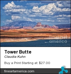 Tower Butte by Claudia Kuhn - Photograph - Photography