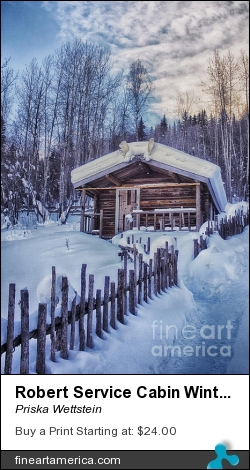 Robert Service Cabin Winter Idyll by Priska Wettstein - Photograph - Photography