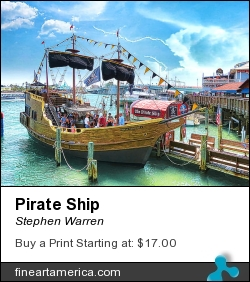 Pirate Ship by Stephen Warren - Photograph - Giclee Print