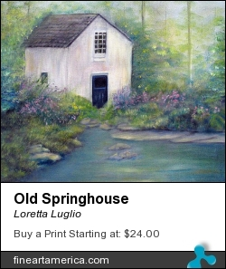 Old Springhouse by Loretta Luglio - Painting - Oil On Canvas