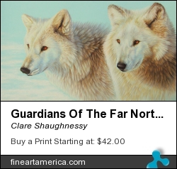 Guardians Of The Far North by Clare Shaughnessy - Drawing - Coloured Pencil