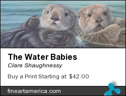 The Water Babies by Clare Shaughnessy - Painting - Oil On Canvas