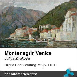 Montenegrin Venice by JULIYA ZHUKOVA - Painting - Oil On Canvas, 50-80cm