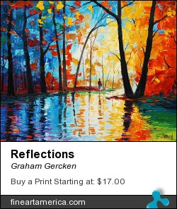 Reflections by Graham Gercken - Painting - Oil On Canvas