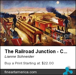 The Railroad Junction - Circa 1880 by Lianne Schneider - Digital Art - Digital Painting/photographic Art