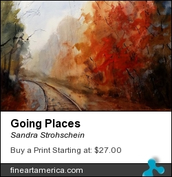 Going Places by Sandra Strohschein - Painting - Transparent Watercolor