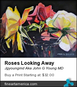 Roses Looking Away by Jgyoungmd Aka John G Young MD - Painting
