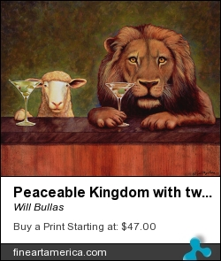 Peaceable Kingdom With Two Olives by Will Bullas - Painting - Watercolor