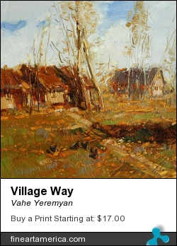 Village Way by Vahe Yeremyan - Painting - Oil On Canvas