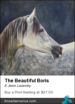 The Beautiful Boris by E Jane Lazenby - Painting - Oil On Canvas Board