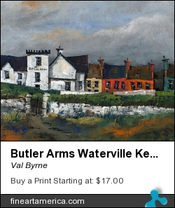 Butler Arms Waterville Kerry by Val Byrne - Painting - Oil On Canvas
