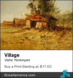 Village by Vahe Yeremyan - Painting