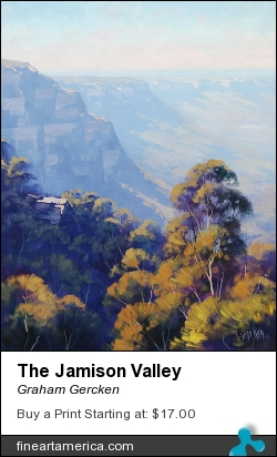 The Jamison Valley by Graham Gercken - Painting - Oil On Canvas