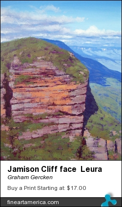 Jamison Cliff Face Leura by Graham Gercken - Painting - Oil On Canvas