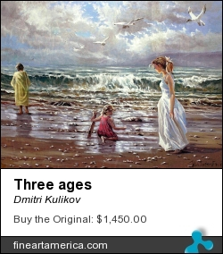 Three Ages by Dmitri Kulikov - Painting - Oil On Canvas
