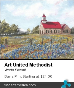 Art United Methodist by Wade Powell - Painting - Oil On Canvass