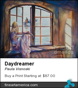 Daydreamer by Paula Visnoski - Painting - Watercolor On Aches Paper