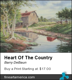 Heart Of The Country by Barry DeBaun - Painting - Watercolor
