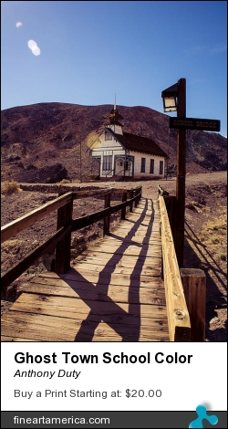 Ghost Town School Color by Anthony Duty - Photograph