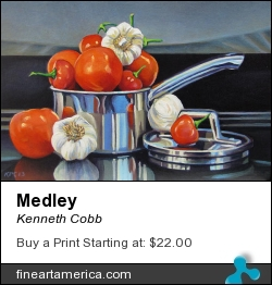 Medley by Kenneth Cobb - Painting - Oil On Canvas