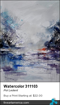 Watercolor 311103 by Pol Ledent - Painting - Watercolor