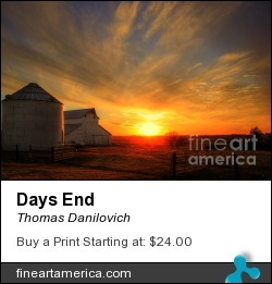 Days End by Thomas Danilovich - Photograph