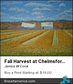 Fall Harvest At Chelmsford by James W Cook - Painting - Oil On Canvas