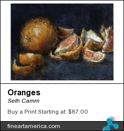 Oranges by Seth Camm - Painting - Oil On Panel